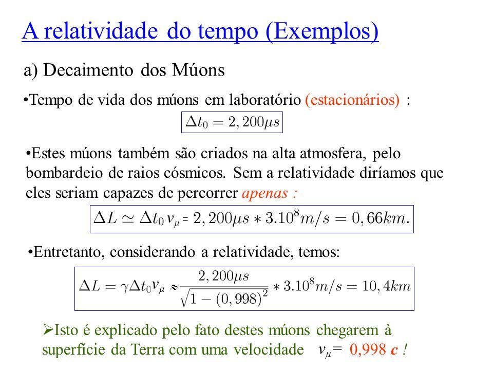 A relatividade do tempo (Exemplos)