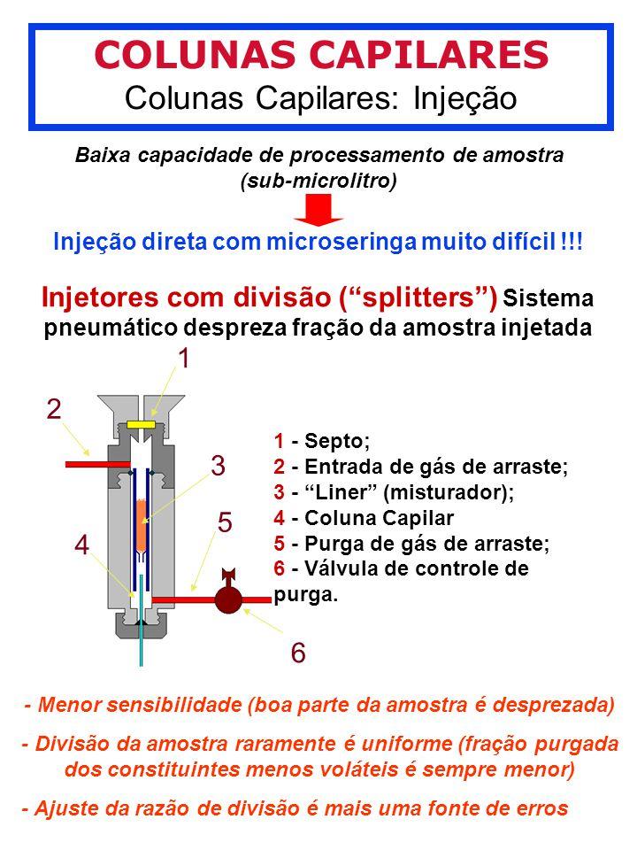 Baixa capacidade de processamento de amostra (sub-microlitro)