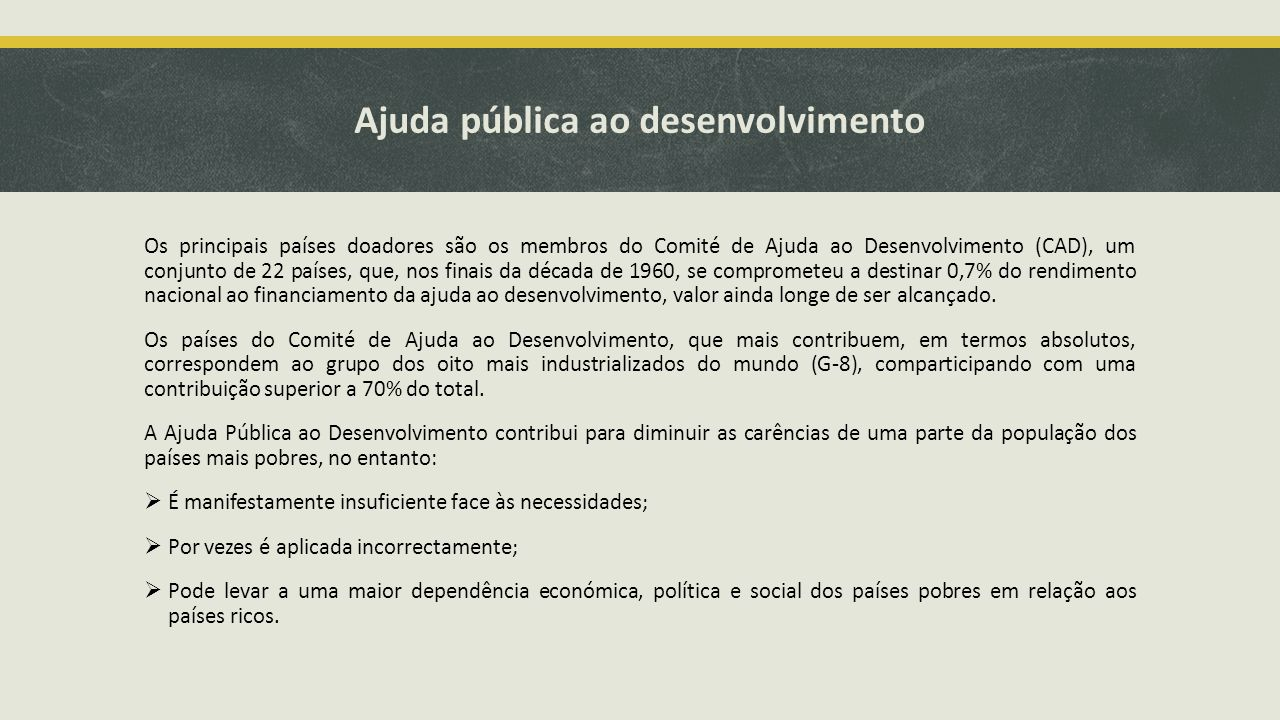 Ajuda pública ao desenvolvimento