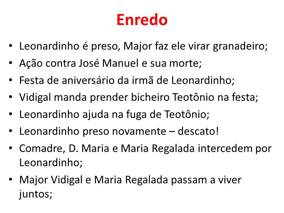 Enredo Leonardinho é preso, Major faz ele virar granadeiro;