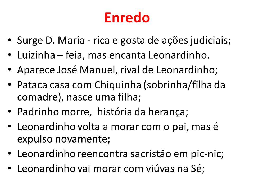 Enredo Surge D. Maria - rica e gosta de ações judiciais;