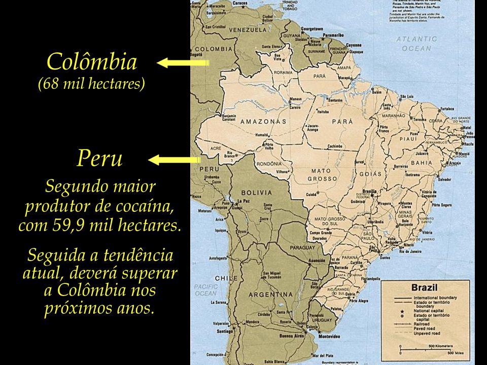 Colômbia Peru Segundo maior