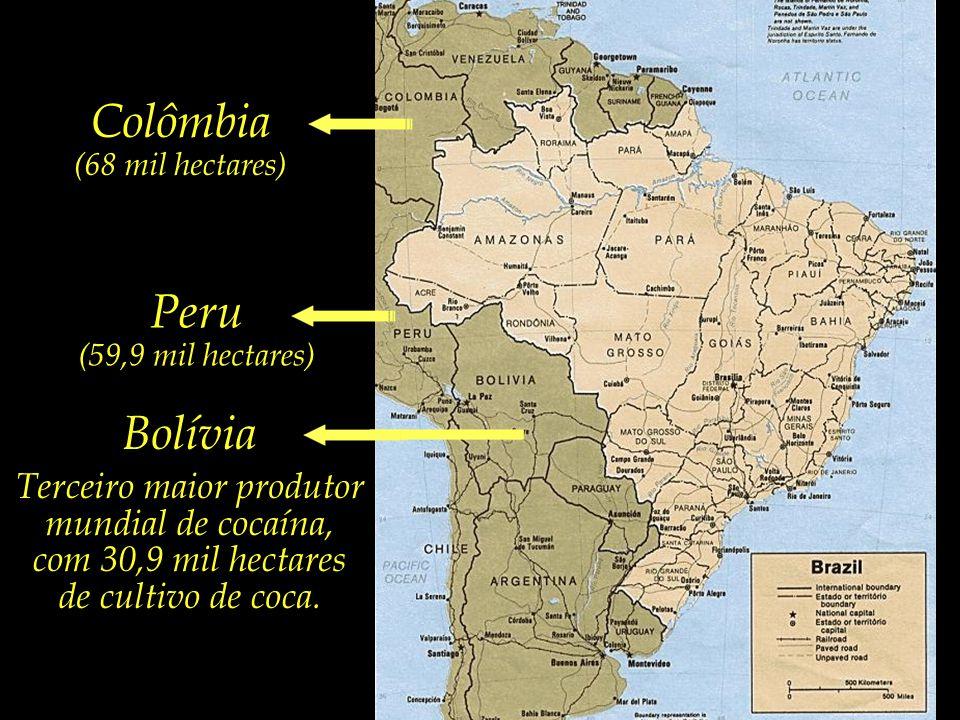 Terceiro maior produtor mundial de cocaína,