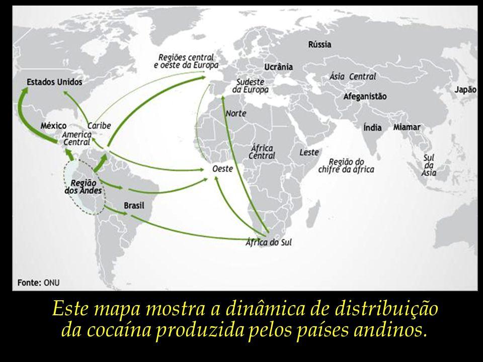Este mapa mostra a dinâmica de distribuição