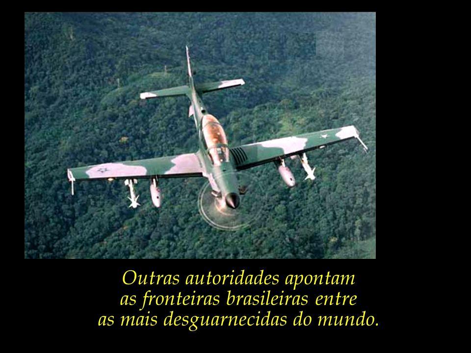 Outras autoridades apontam as fronteiras brasileiras entre