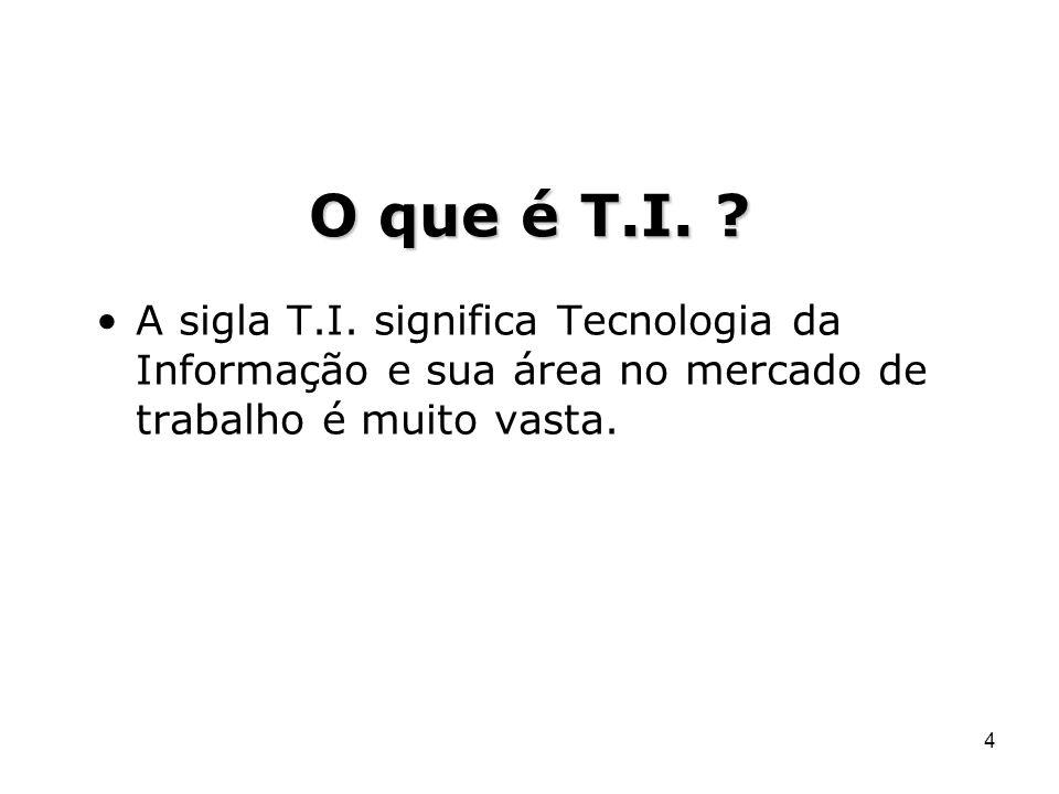 O que é T.I. A sigla T.I.