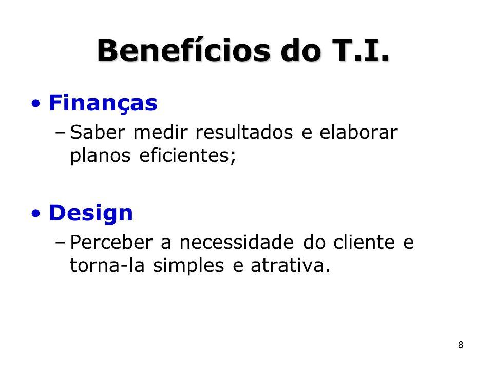 Benefícios do T.I. Finanças Design