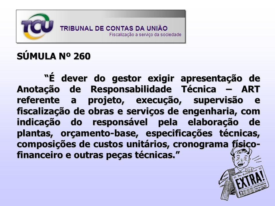 SÚMULA Nº 260