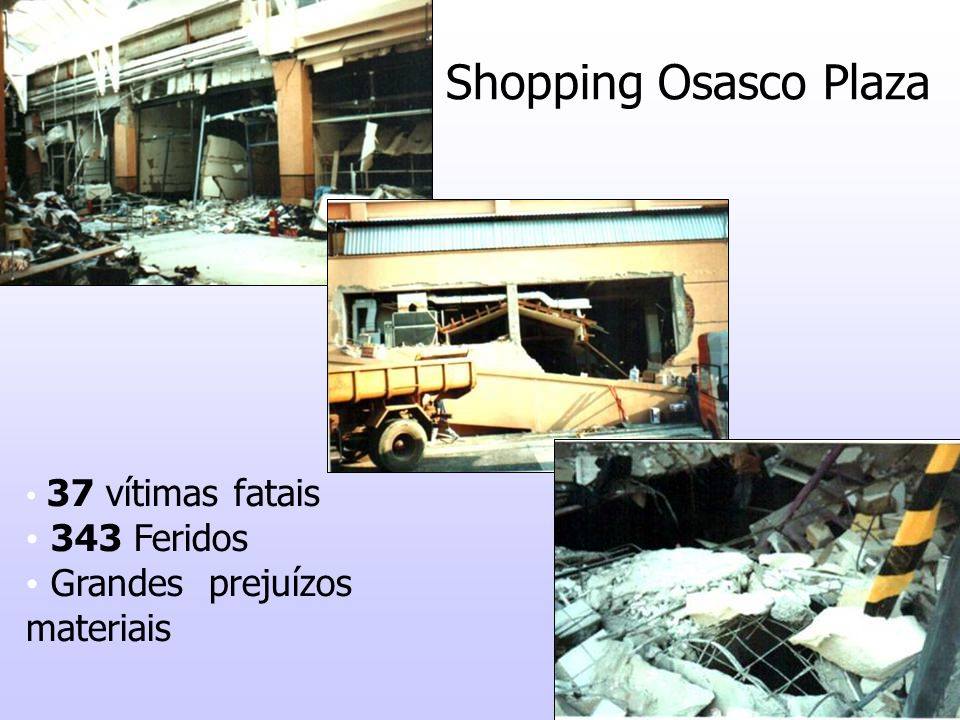 Shopping Osasco Plaza 343 Feridos Grandes prejuízos materiais