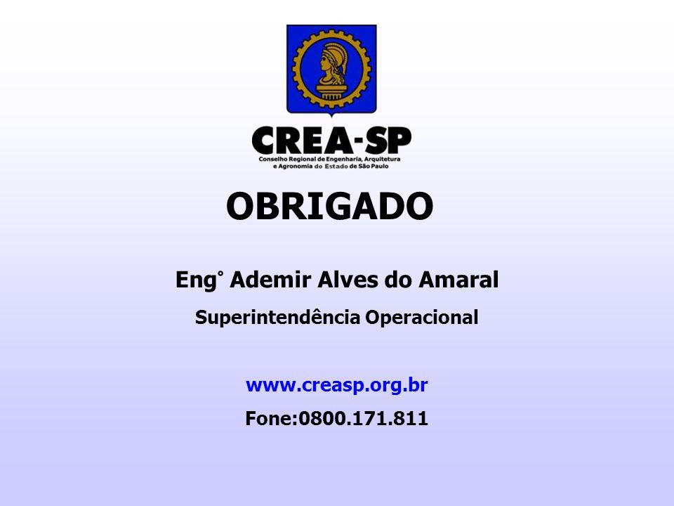 Eng° Ademir Alves do Amaral Superintendência Operacional