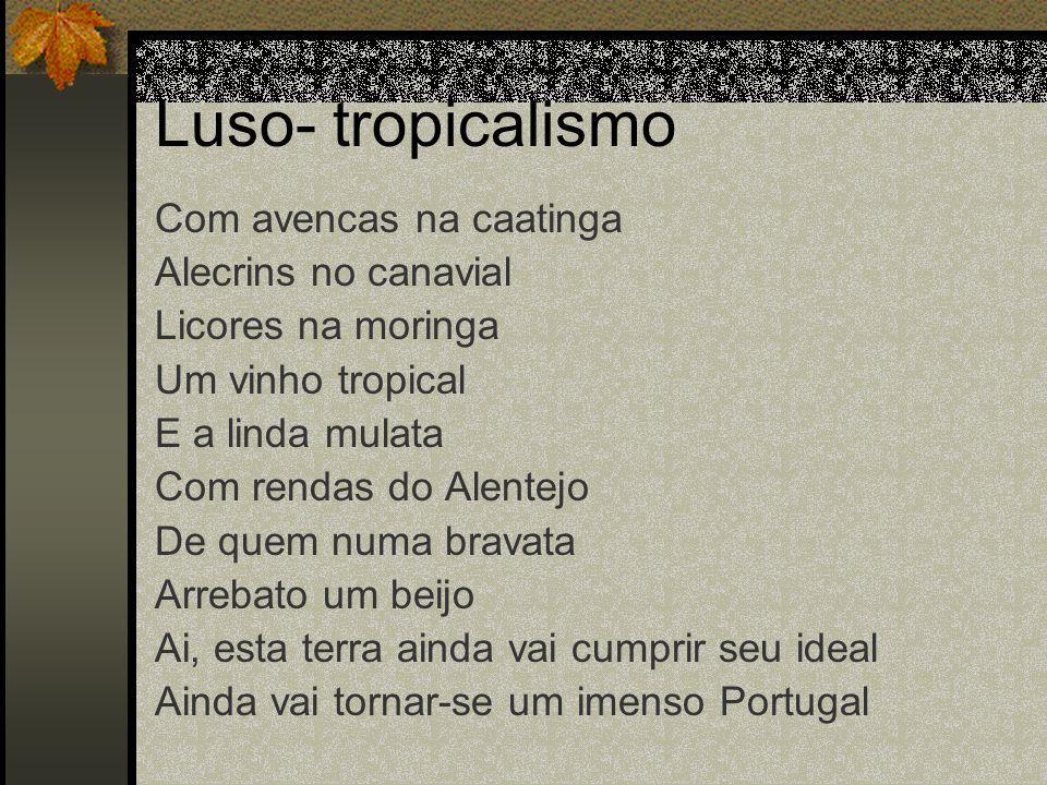 Luso- tropicalismo Com avencas na caatinga Alecrins no canavial