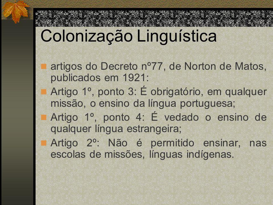 Colonização Linguística
