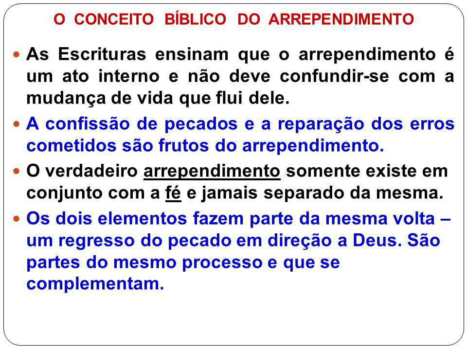 O CONCEITO BÍBLICO DO ARREPENDIMENTO