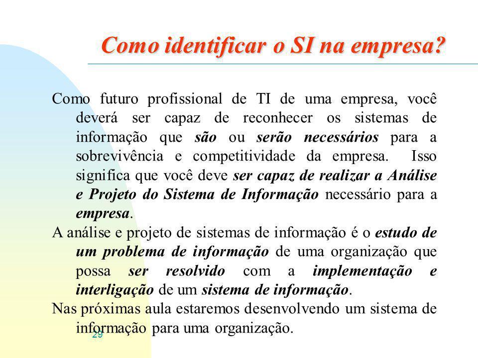 Como identificar o SI na empresa