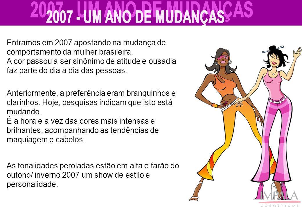 2007 - UM ANO DE MUDANÇAS Entramos em 2007 apostando na mudança de comportamento da mulher brasileira.
