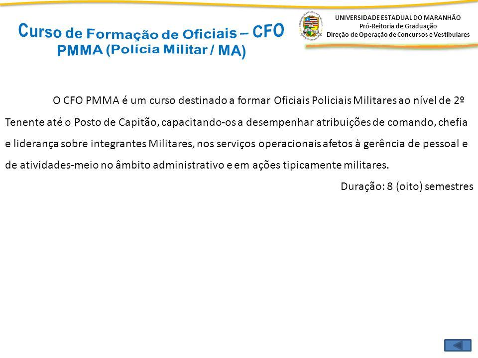 Curso de Formação de Oficiais – CFO PMMA (Polícia Militar / MA)