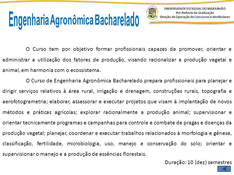 Engenharia Agronômica Bacharelado