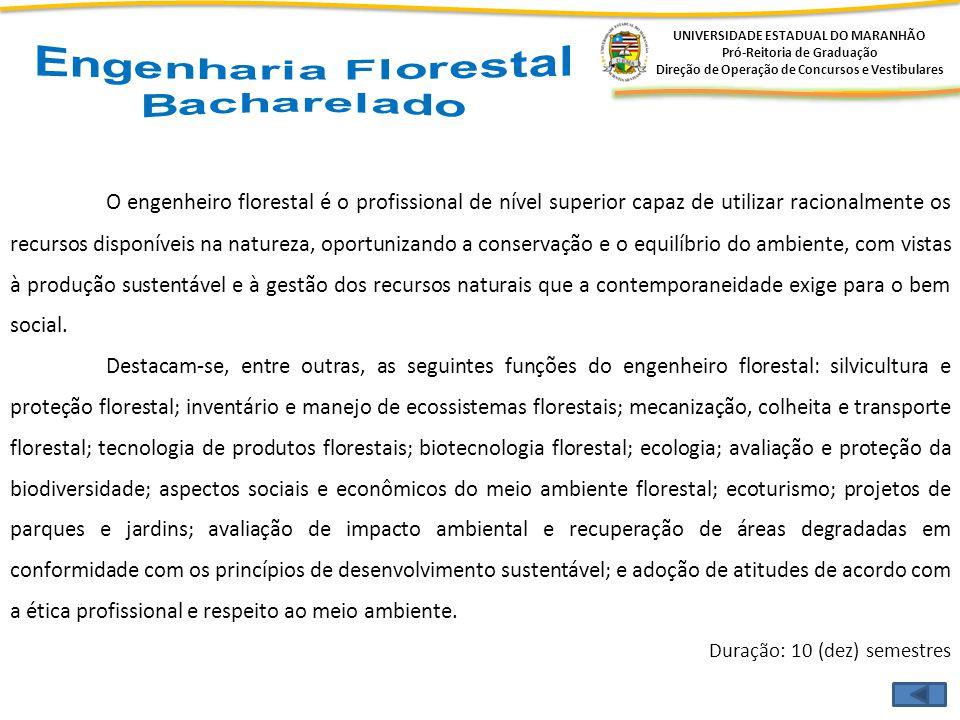 Engenharia Florestal Bacharelado