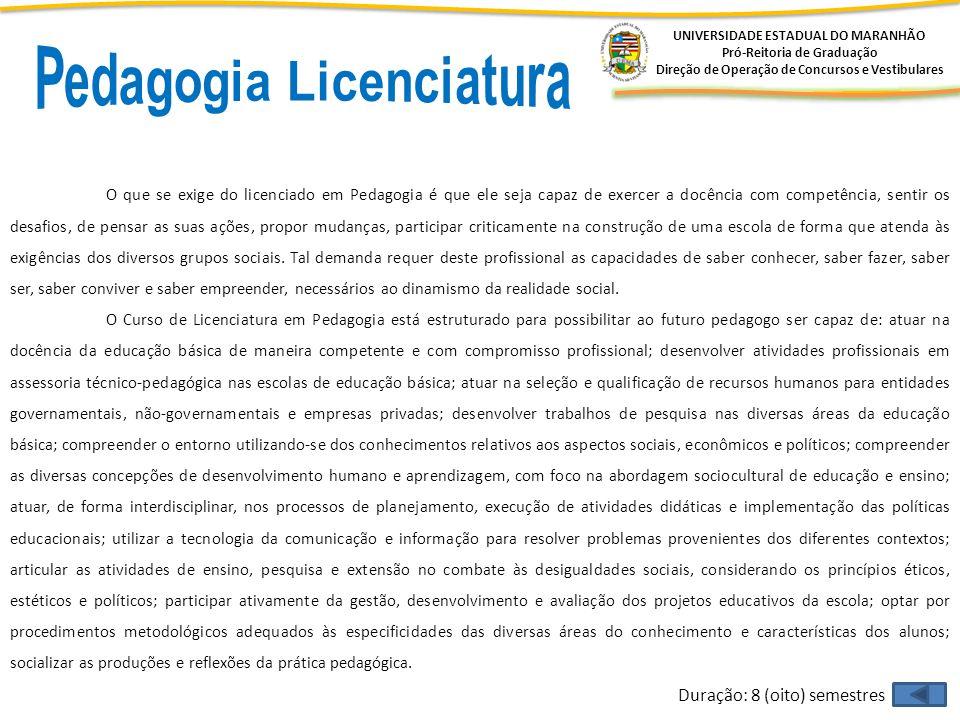 Pedagogia Licenciatura