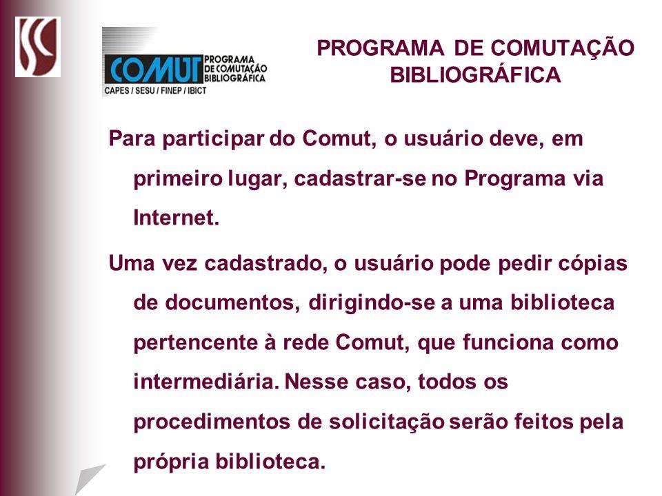 PROGRAMA DE COMUTAÇÃO BIBLIOGRÁFICA
