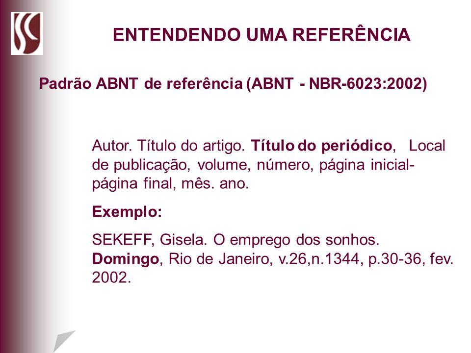 ENTENDENDO UMA REFERÊNCIA