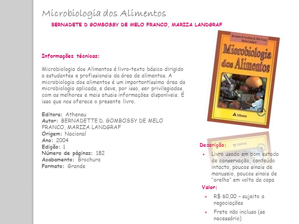 Microbiologia dos Alimentos