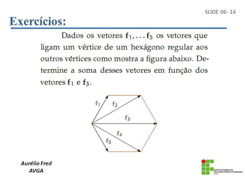 Exercícios: SLIDE 06- 14 Aurélio Fred AVGA
