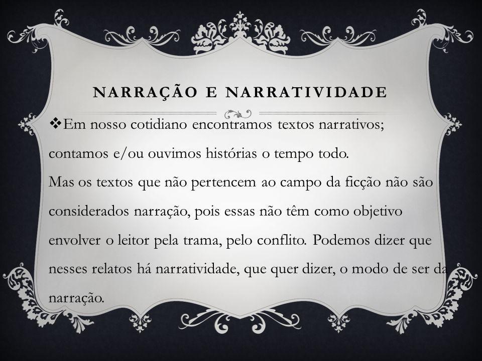 Narração e Narratividade