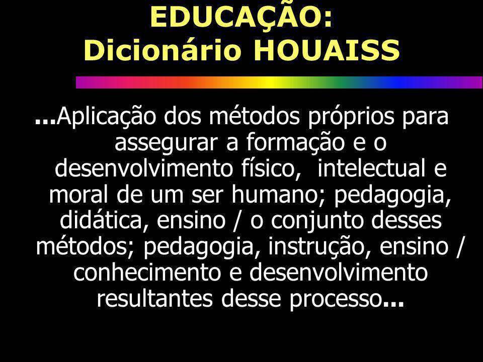 EDUCAÇÃO: Dicionário HOUAISS