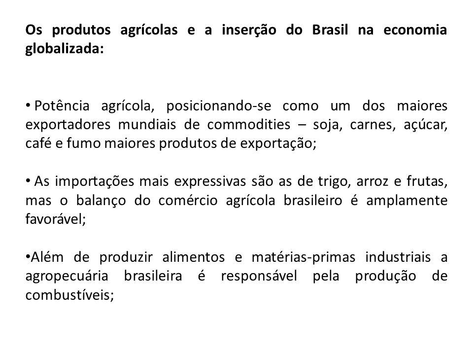 Os produtos agrícolas e a inserção do Brasil na economia globalizada: