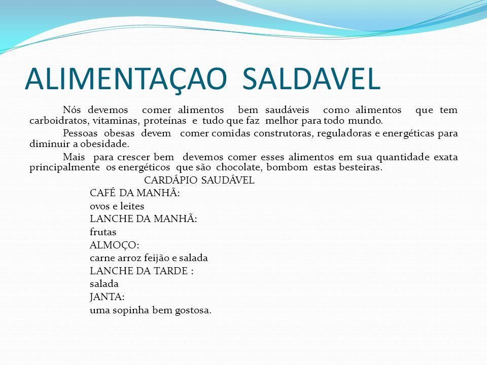 ALIMENTAÇAO SALDAVEL