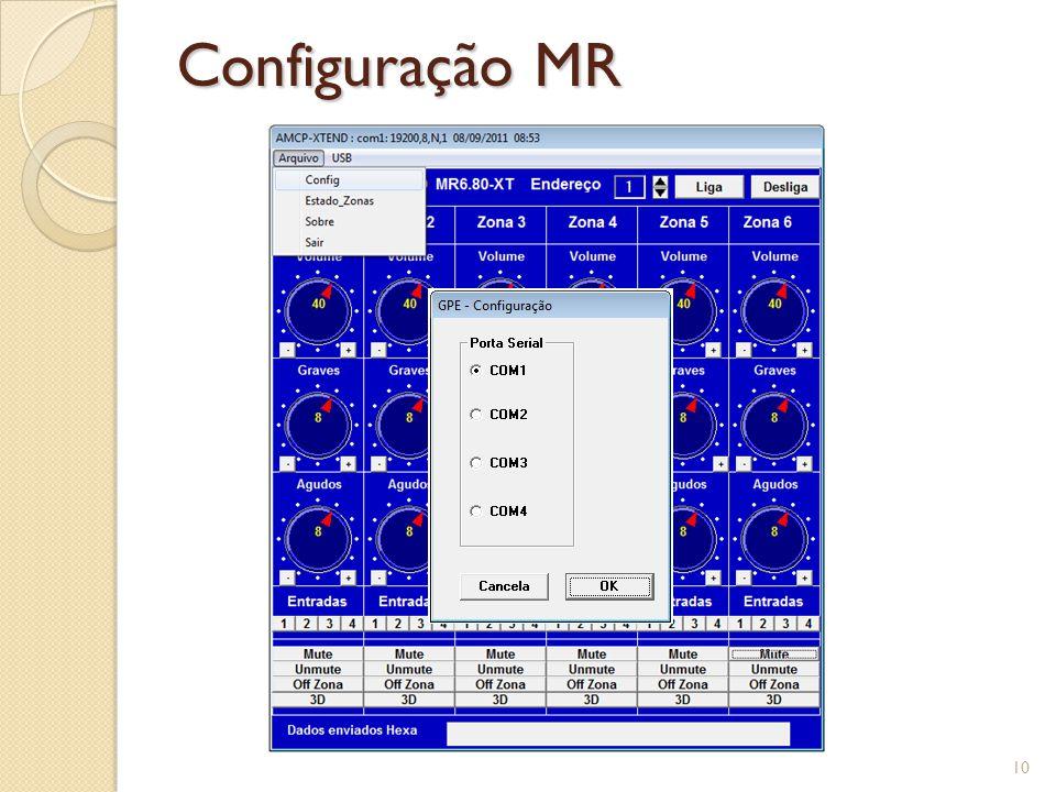 Configuração MR