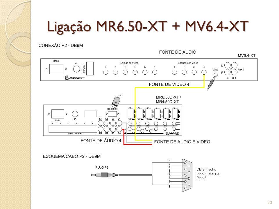 Ligação MR6.50-XT + MV6.4-XT