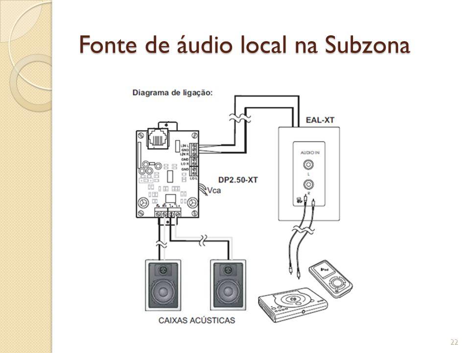 Fonte de áudio local na Subzona