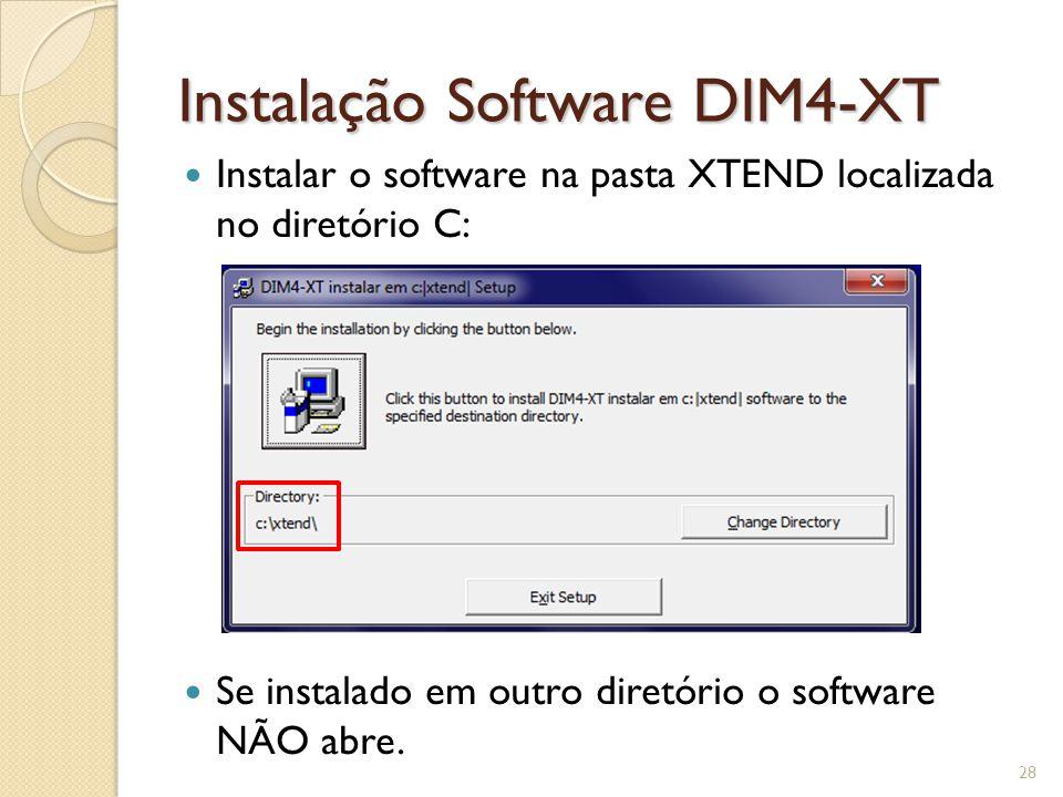 Instalação Software DIM4-XT