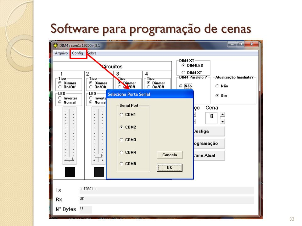 Software para programação de cenas