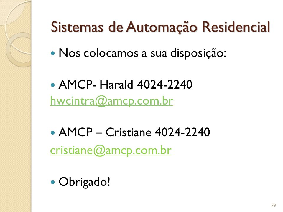 Sistemas de Automação Residencial