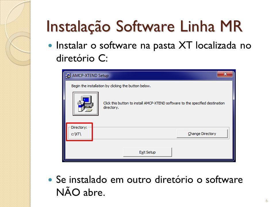 Instalação Software Linha MR