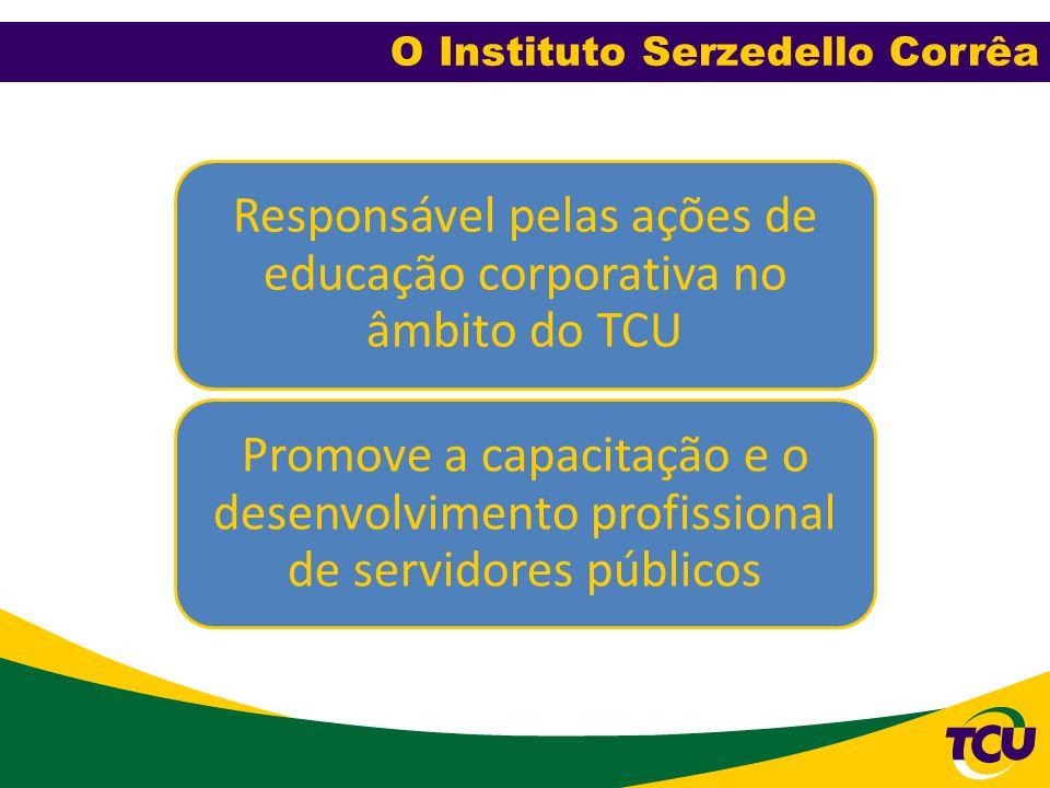 Responsável pelas ações de educação corporativa no âmbito do TCU