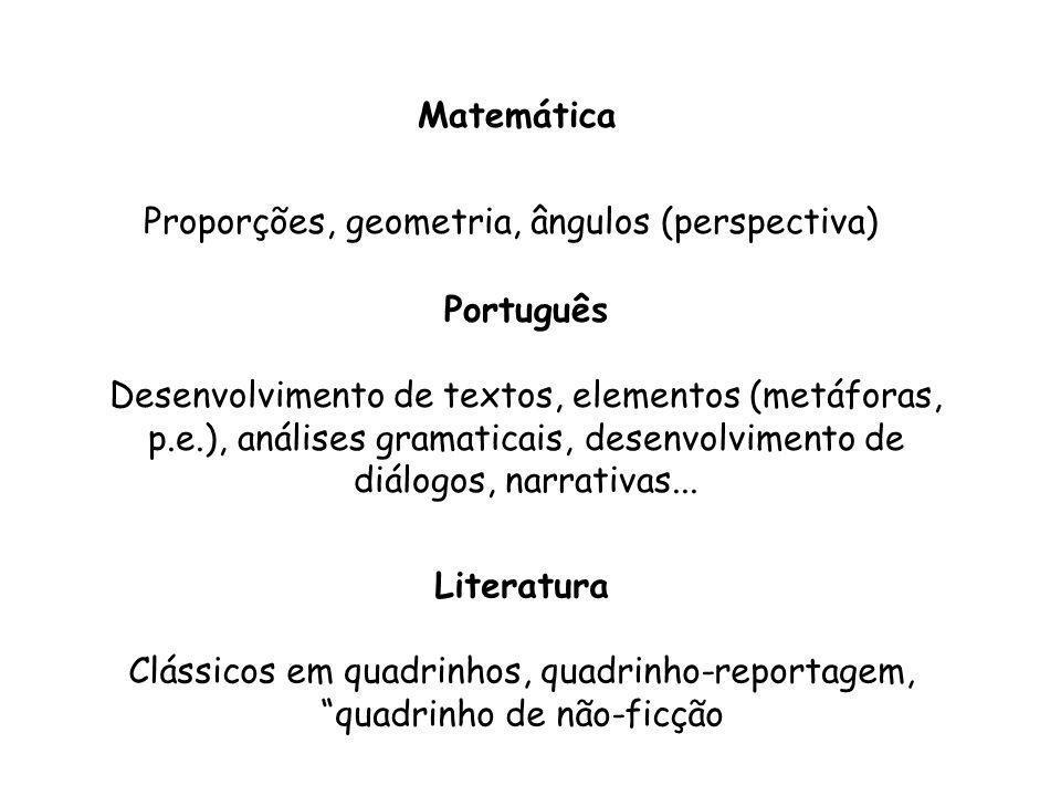 Proporções, geometria, ângulos (perspectiva)