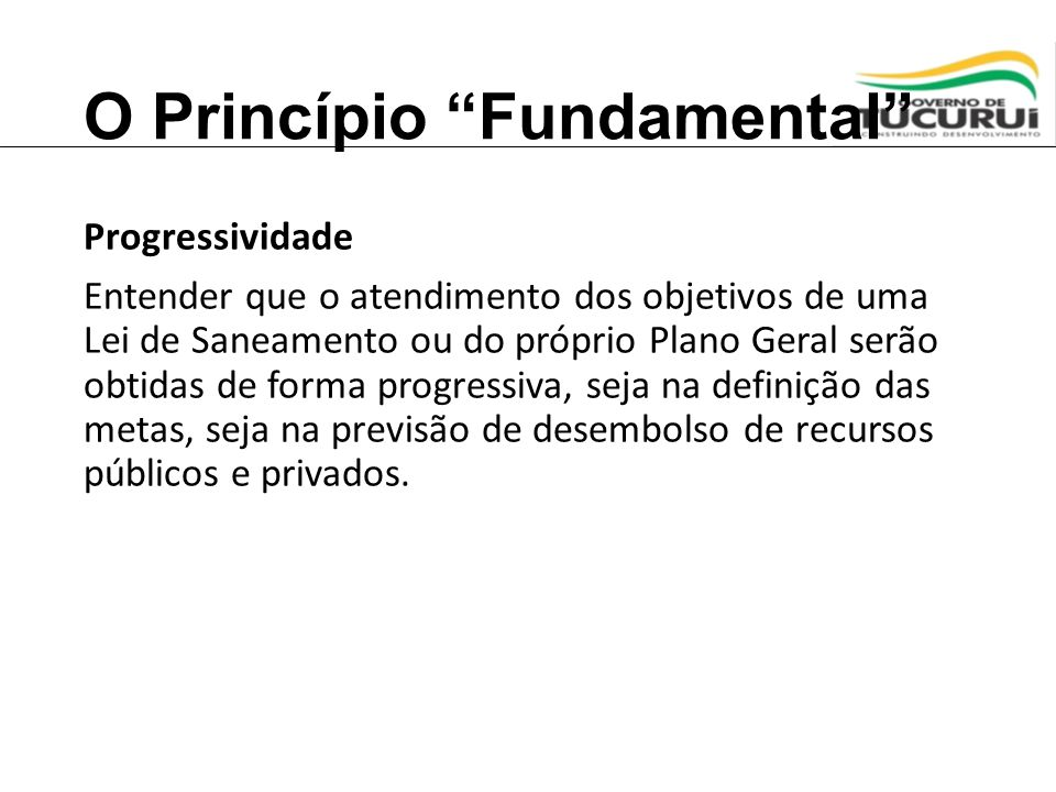 O Princípio Fundamental