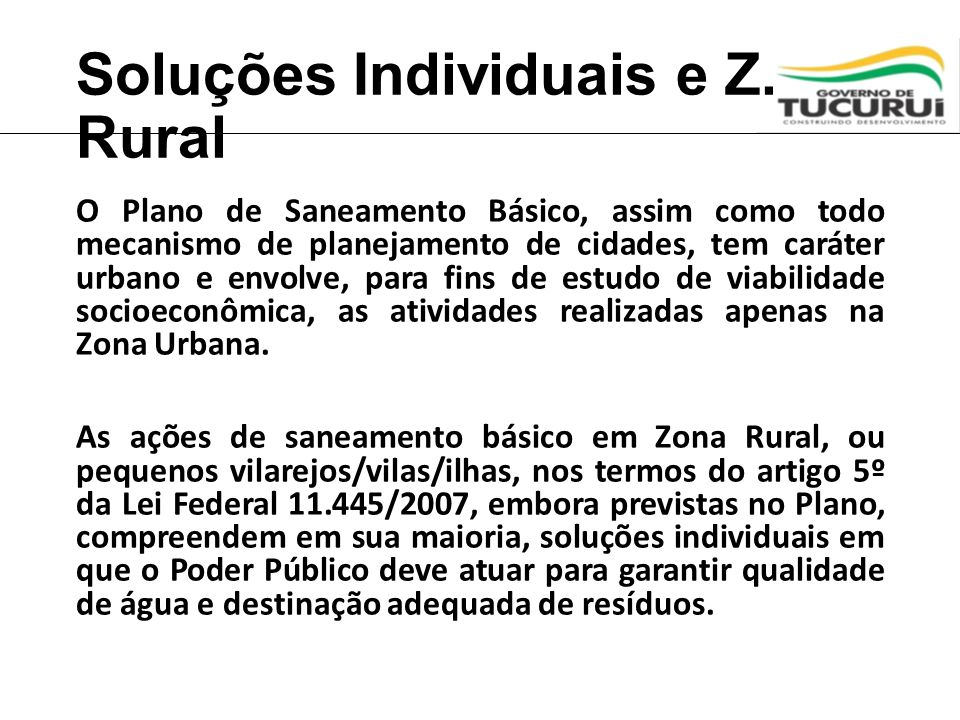 Soluções Individuais e Z. Rural