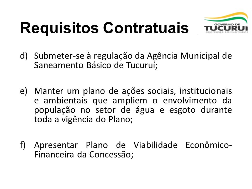 Requisitos Contratuais