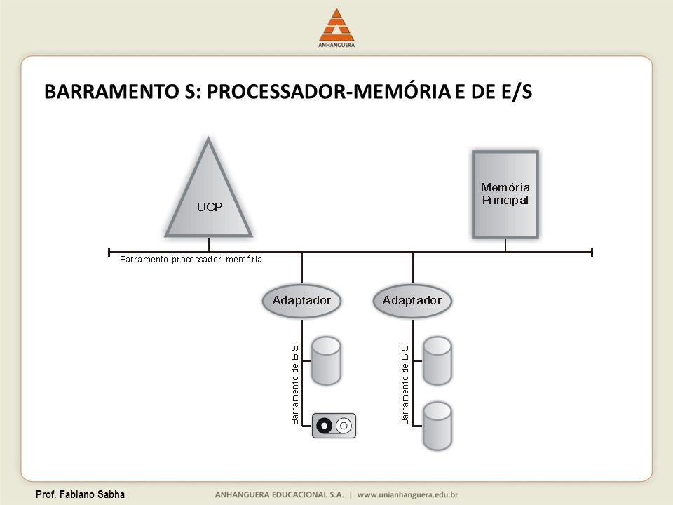 BARRAMENTO S: PROCESSADOR-MEMÓRIA E DE E/S