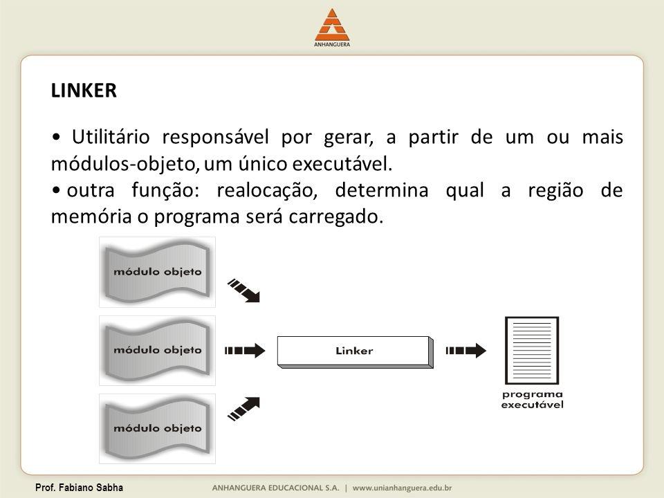 LINKER Utilitário responsável por gerar, a partir de um ou mais módulos-objeto, um único executável.