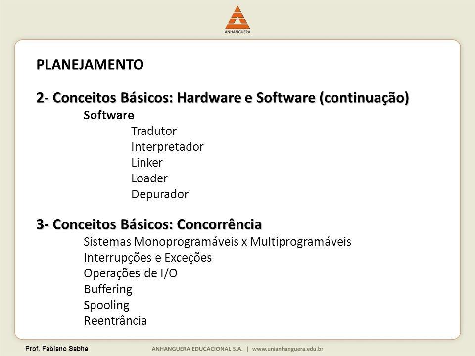 2- Conceitos Básicos: Hardware e Software (continuação)