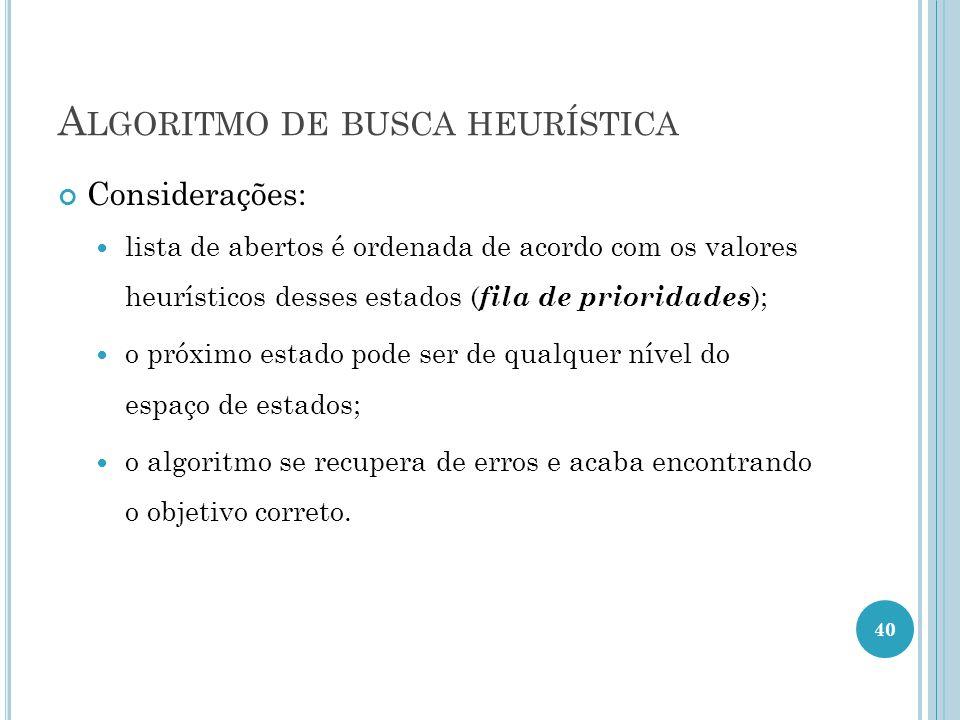 Algoritmo de busca heurística