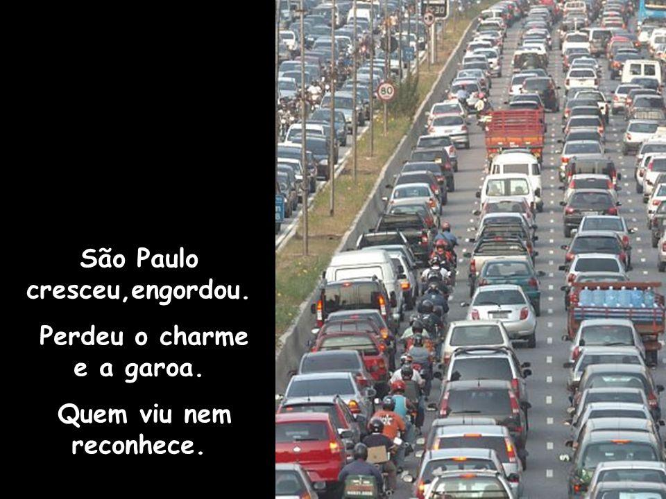São Paulo cresceu,engordou. Perdeu o charme e a garoa.
