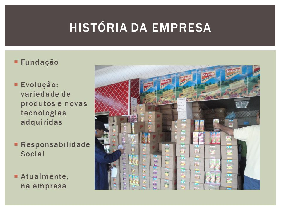 História da empresa Fundação