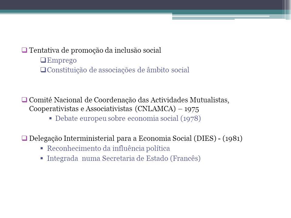 Tentativa de promoção da inclusão social